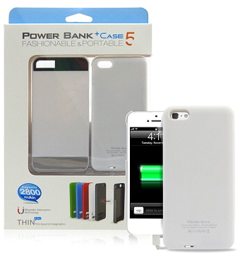 Magnetic PowerCase for iPhone 5/5S 2800mAh