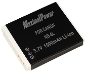 MaximalPower NB-6L 1000mAh