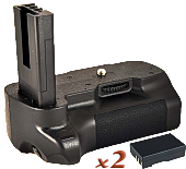Phottix BP-D60 Premium Battery Grip + 2x En-El9